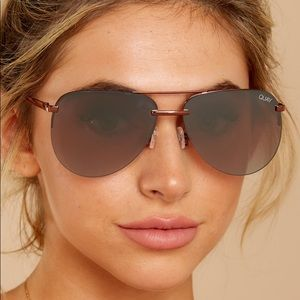 Quay The Playa Bronze Brown Aviator Sunglasses